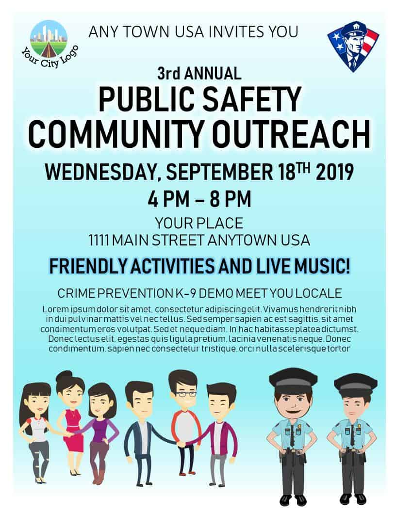 public safety community outreach flyer template