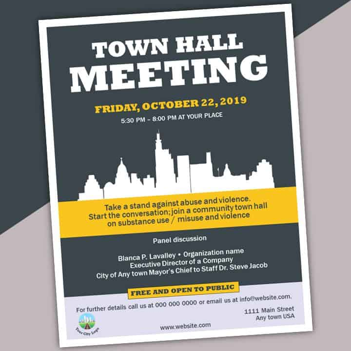 Meeting Announcement Flyer Template from stateofthe.city